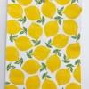 Block Printed Leafy Lemon Paper