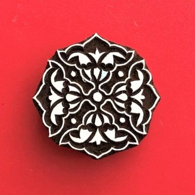 Indian Wooden Printing Block - 4 Point Motif