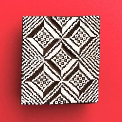 Indian Wooden Printing Block - Aztec Tile 4