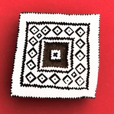 Indian Wooden Printing Block - Aztec Tile 5