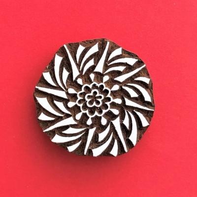 Indian Wooden Printing Block - Bolt Circle
