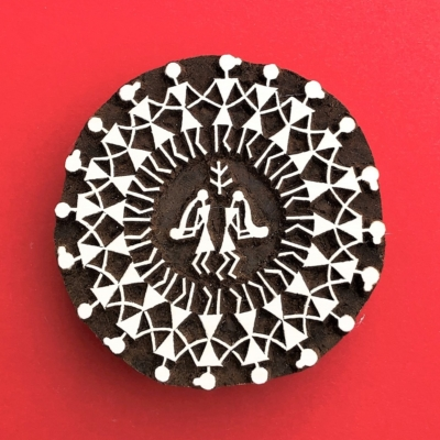Indian Wooden Printing Block - Circle Of Friends