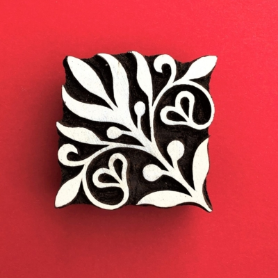 Indian Wooden Printing Block - Corner Motif