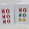 Indian Wooden Printing Block - Ho Ho Ho Christmas Cards
