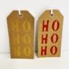Indian Wooden Printing Block - Ho Ho Ho Gift Tags