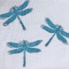 Indian Wooden Printing Block - Large Solid Dragonfly Sample 2