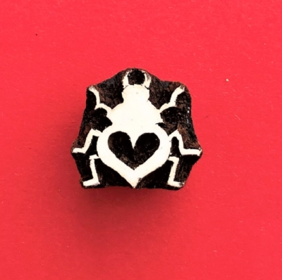 Indian Wooden Printing Block - Little Love Bug
