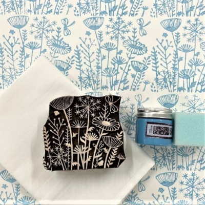 Block Print Kit - Duck Egg Meadow