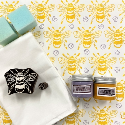 Block Print Kit - Yellow Bee