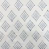Block Printed Fabric using Dotty Diamond in Midnight Blue