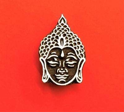 Indian Wooden Printing Block - Buddha Head