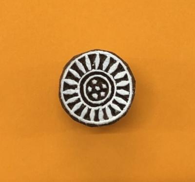 Indian Wooden Printing Block - Mini Circle Design