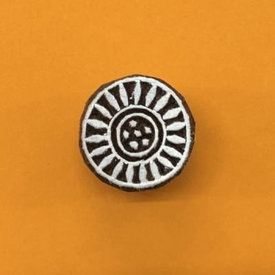 Indian Wooden Printing Block - Mini Circle Design