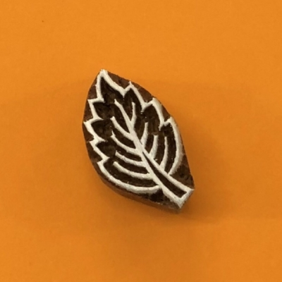Indian Wooden Printing Block - Mini Feather Leaf