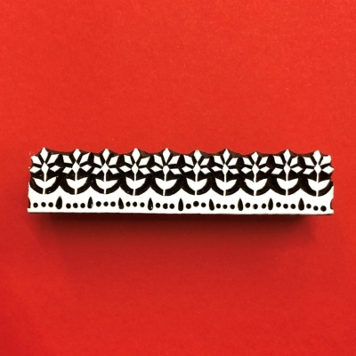 Indian Wooden Printing Block - Indian Floral Border