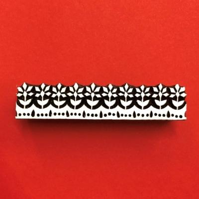 Indian Wooden Printing Block - Indian Floral Border