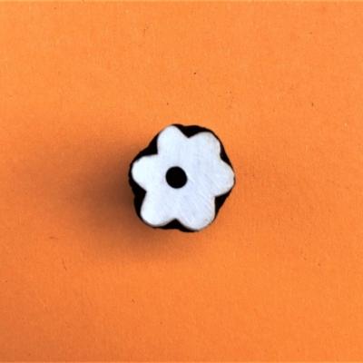 Indian Wooden Printing Block - Mini 6 Petal Funky Flower