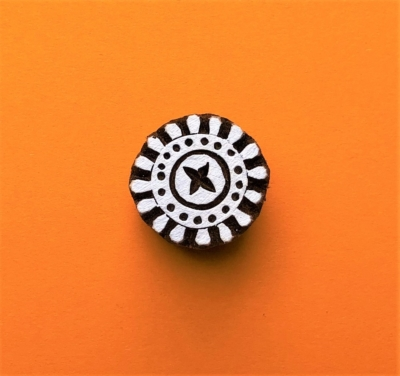 Indian Wooden Printing Block - Mini Circle Design 4