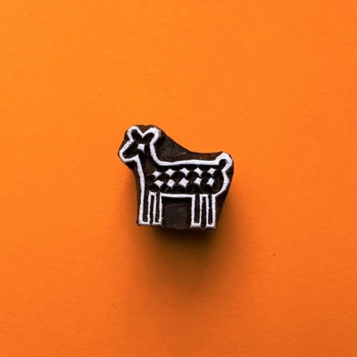 Indian Wooden Printing Block - Mini Deer