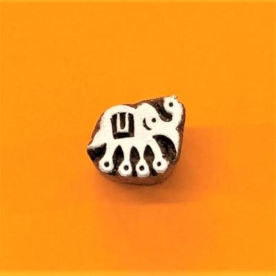 Indian Wooden Printing Block - Mini Elephant