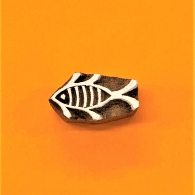 Indian Wooden Printing Block - Mini Fish