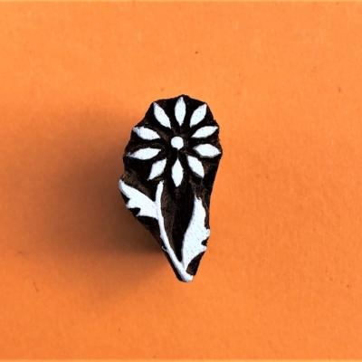 Indian Wooden Printing Block - Mini Flower 3