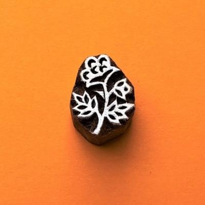 Indian Wooden Printing Block - Mini Flower 6