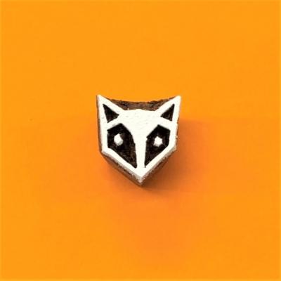 Indian Wooden Printing Block - Mini Fox Head