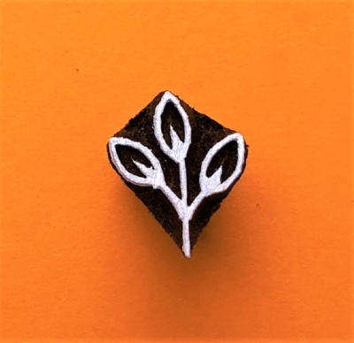 Indian Wooden Printing Block - Mini Leaf Sprig
