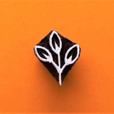 Indian Wooden Printing Block - Mini Leaf Sprig