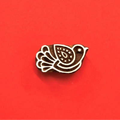 Indian Wooden Printing Block - Simple Flying Bird