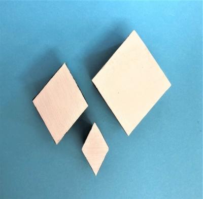 Indian Wooden Printing Block - Solid Diamonds