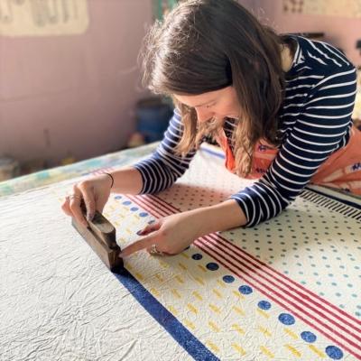 Tess- Traditional Indian Block Printing Workshop