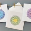 Block Printed Card & Envelop- Intricate Circle Mandala