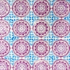 Block Printed Fabric- Small Moroccan Tile