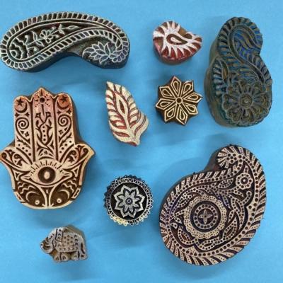 Ethnic Paisley 4- set of Workshop Printing Blocks
