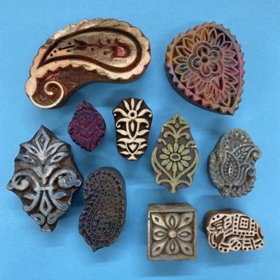 Ethnic Paisley 5- set of Workshop Printing Blocks