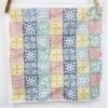 Block Printed Napkin- 6 Square Patterned Tiles