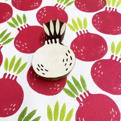Indian Wooden Printing Block- Pomegranate