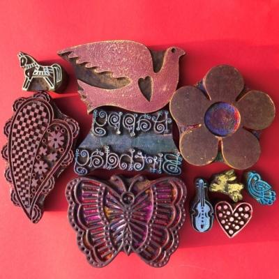 Indian Wooden Workshop Printing Set - Happy Birthday
