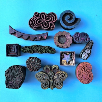 Indian Wooden Workshop Printing Set - Party Mix