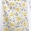 Block Printed Organic Tea Towel, Printed using Large bee and Flower set in 'Dusky Meadow' Fabric Paint Set