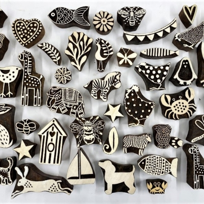 Mixed Animals- Block Printing Workshop Hire Kit