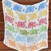 Block Printed Organic Cotton Baby Muslin- Multi Coloured Elephant Design