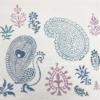 Sample Fabric Peacock & Paisleys- set of Workshop Printing Blocks