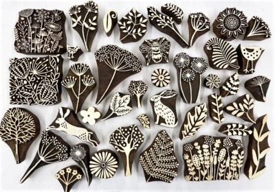 Seeds, Trees, and Leaves- Block Printing Hire Kit