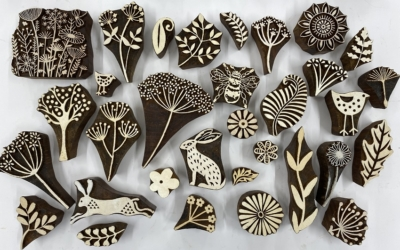 Seed, Tree and Leaves- Family Block Printing Kit