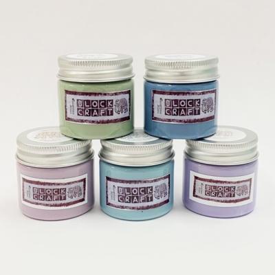 Set of 5 Fabric Paints- Pretty Dusky