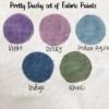 Pretty Dusky set of Fabric Paints