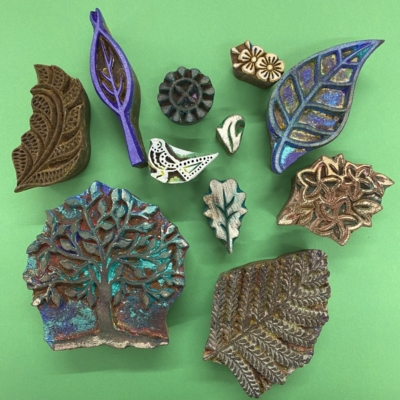 Tree & Leaves- Set of Workshop Printing Blocks